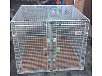 Large Guardsman Double Dog Cage Car crate
