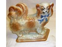 Pair of Brown Porcelain Dogs