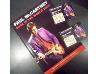 Paul McCartney 'Back In The World 2003' Tour Programme