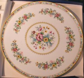 Excellent Coalport Cake bone china plate Ming Rose 11 inches. As new. P &P included.