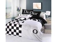 Brandnew Dior Bedset complete with bed sheet, duvet cover & 2 pillow cases cheap sale gift bed set