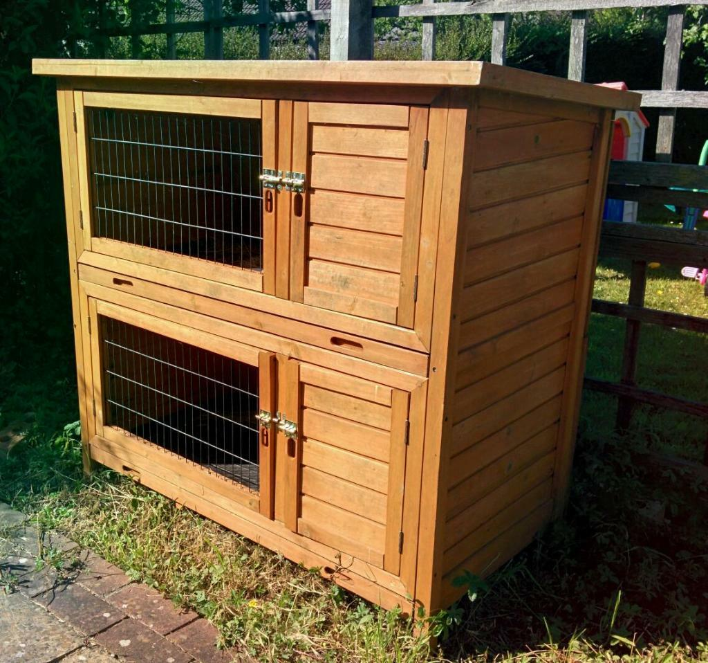 Rabbit Tortoise Guinea Pig Double Hutch In Chipping