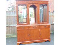 regency style inlaid Light mahogany sideboard / dresser / display cabinet