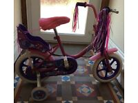 """Best Friend"" pink bike for girl with stabiliser"