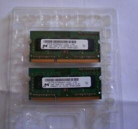 4GB RAM 2 x 2GB RAM Chips PC3-10600S for a Macbook Pro or similar