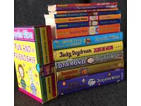 Jacqueline Wilson collection, hard back and soft.