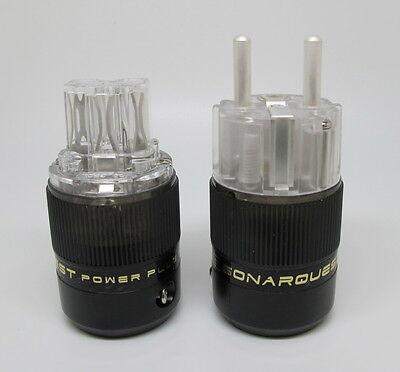 SONAR QUEST CRYO Ag Audio Grade Silver plated IEC plug + Schuko plug