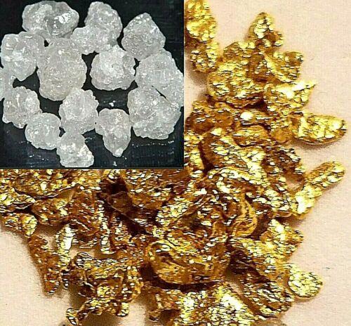 Gold Nuggets Natural Alaskan Superb Quality & Large Diamonds FREE ROUGH GEM best