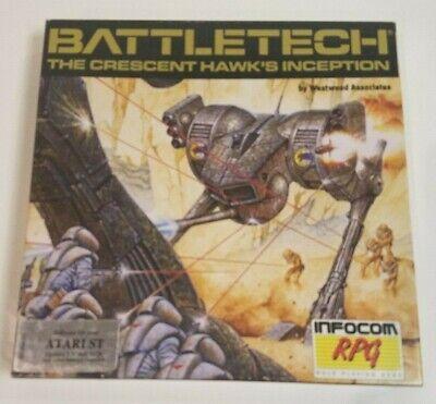 Atari BattleTech Crescent Hawk's Inception Vintage Computer Game Disk Box POSTER