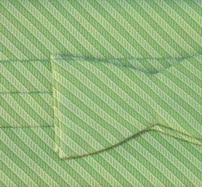 Vineyard Vines Rope Outline Silk Green Stripe Cummerbund Tie 2 Pc Set NIB -