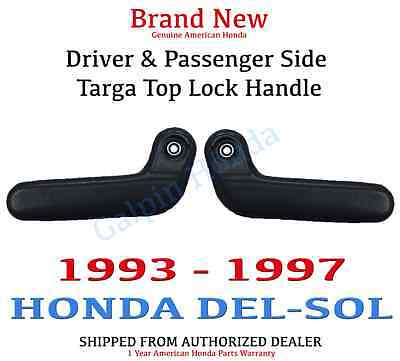 Genuine OEM 93-97 Honda Del-Sol Targa Top Lock Handle Set (85215/85265-SR2-000ZA