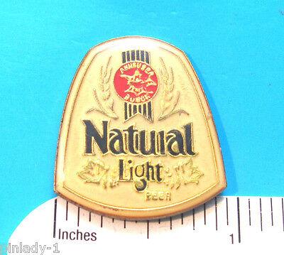ANHEUSER Bush Natural Light beer hat pin , lapel pin , badge , hatpin GIFT BOXED