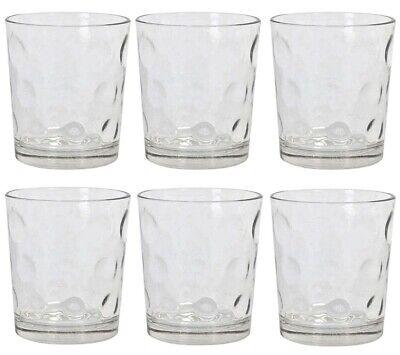 6x Cocktail whisky drinking glasses tumblers highball ALIAN circles 360ml