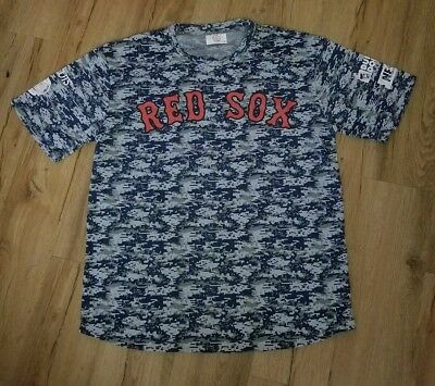Boston Red Sox Ted Williams Camo SGA Polyester jersey T-Shirt men