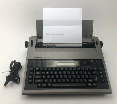 Panasonic Model Kx-r210 Electric Typewriter Word Processor W Cover Portable
