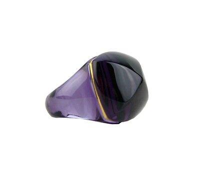 BACCARAT JEWELRY 18K YELLOW GOLD MEDICIS POP PURPLE RING 51- 5,5 US NEW FRANCE](Purple Ring Pop)
