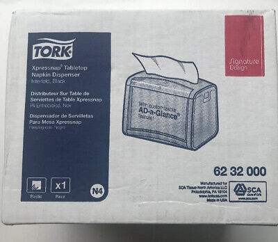 New Tork Xpressnap Tabletop Napkin Dispenser Black Interford 6232000