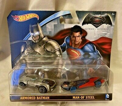 NEW Hot Wheels Batman VS Superman Character Car 2 Pack Diecast