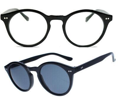 Runde Sonnenbrille Modebrille Klarglas Vintage Stil Pantobrille Damen Herren N51