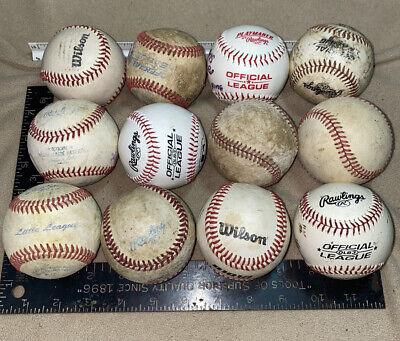 2 dozen used baseballs all leather baseballs