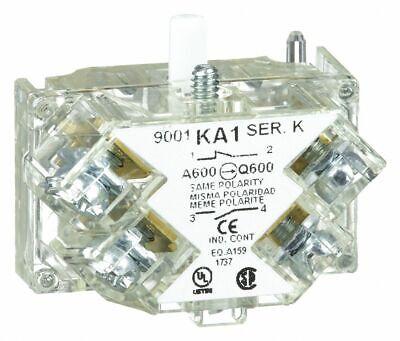 Square D 9001-ka1 Fingersafe Contact Block Direct Acting 30mm 10amp 600v 2-pole