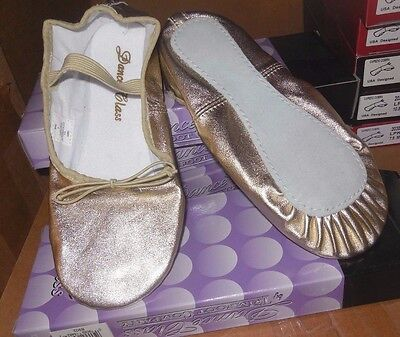 Gold Ballet Shoes by Trimfoot Ladies Sizes Medium width Praise Shoes full sole
