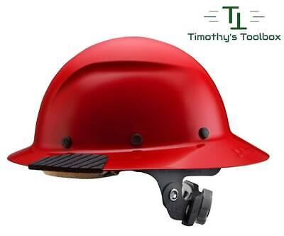 Lift Safety Dax Red Full Brim Hard Hat W Ratchet Suspension