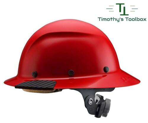 LIFT Safety DAX Red Full Brim Hard Hat w/ Ratchet Suspension