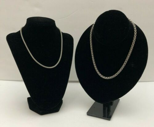 Two STERLING SILVER 925 CHAINS MBC AND ITALIAN 16 INCH 45.5g