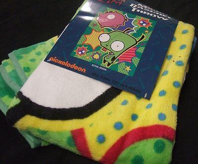 Space Alien Invader Zim Dog Suit Gir Pig Plush Fleece Throw Blanket Nickelodeon