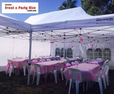 Marquee Hire $55, Kids Chairs Hire $1, Trestle Tables Hire $8
