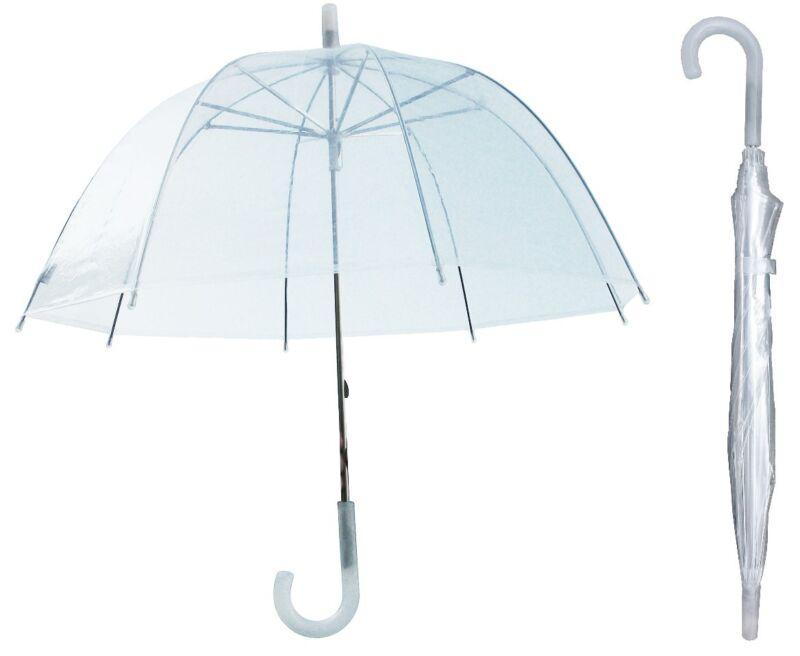 "Lot of 12 - 32"" Arc Children Kid Clear Dome Umbrella - RainStoppers Rain Bubble"