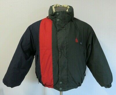 Mens Nautica Reversible Jacket Full Zip Duck Down Fill Size Small S Color Block