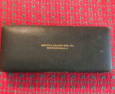 Vintage Brown Sharpe Micrometer. 0-1. W Case.