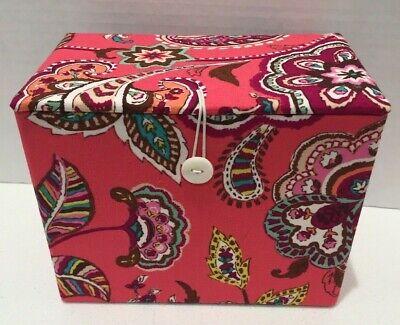Vera Bradley Call Me Coral Apron Gift Set Recipe Box -