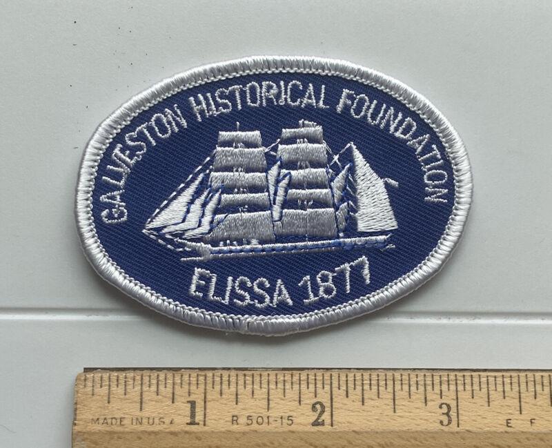 Galveston Historical Foundation Elissa 1877 Tall Ship Souvenir Embroidered Patch