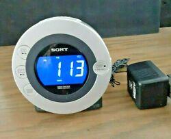 Sony Dream Machine Alarm Clock CD Radio iPod/iPhone ICF-CD3IP Tested