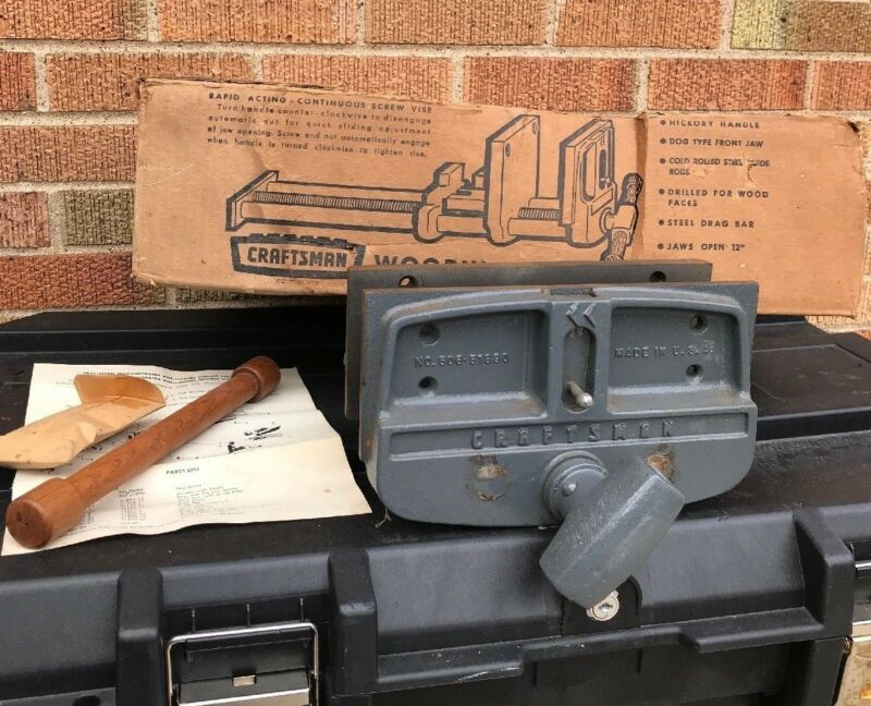 Nos Vintage Craftsman Columbian 10 Woodworking Bench Vise 506