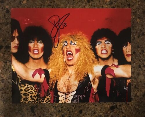 * DEE SNIDER * signed autographed 11x14 photo * TWISTED SISTER * PROOF * 3