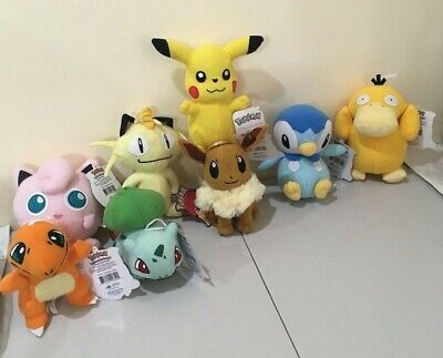 Pokemon Soft Toys Pikachu Charmander Bulbasaur Eevee Psyduck Meowth Jigglypuff