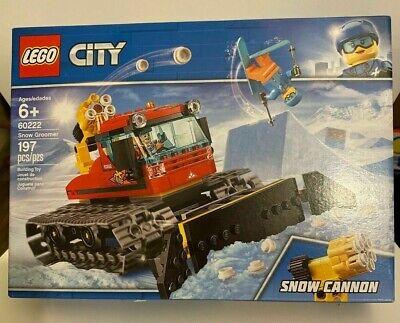 LEGO 60222 Snow Groomer Snow Cannon City Brand new 2019 Pcs 197