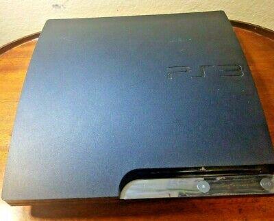Sony PlayStation 3 80GB Slim Black Gaming Console Model CECH-2501A