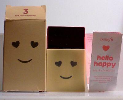 Benefit Cosmetics Hello Happy Soft Blur Foundation 1 OZ. ~SHADE 3~ *READ DETAILS