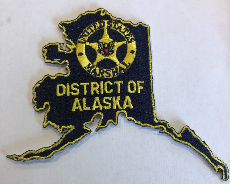 District Of Alaska United States Marshal Police Patch