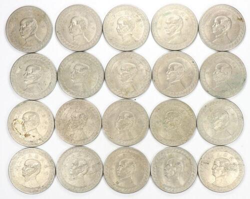 Lot of 20 1943 Year 32 Chinese Republic 50 Cents 1/2 Yuan Dollar China