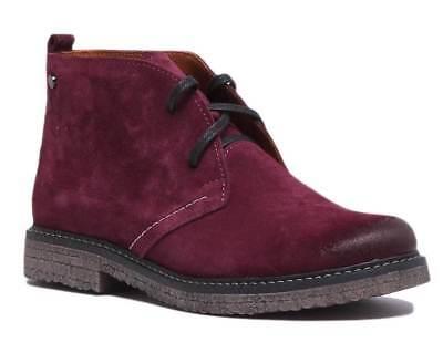 Justin Reece Womens Premium Suede Desert Boots Sizes UK 3 - 8