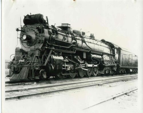OCC871 1940s/60s AT&SF SANTA FE RR PR PHOTO 2-10-4 LOCO #5000
