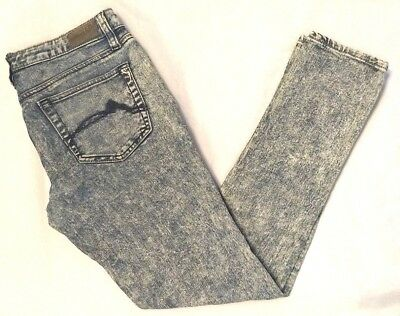 Dollhouse Womens Blue Stone Washed Cotton Spandex Blend Tapered Leg Jeans 9 Dollhouse Womens Rock