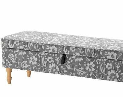 NEW  IKEA STOCKSUND BENCH OTTOMAN SLIPCOVER GREY/WHITE