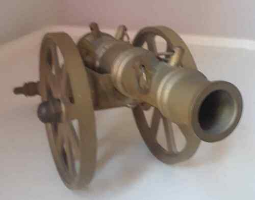 METAL THREE-WHEEL CANNON DESK ORNAMENT